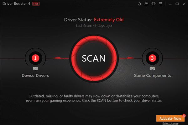 tampilan Driver Booster IObit