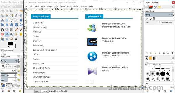 Download GIMP Terbaru