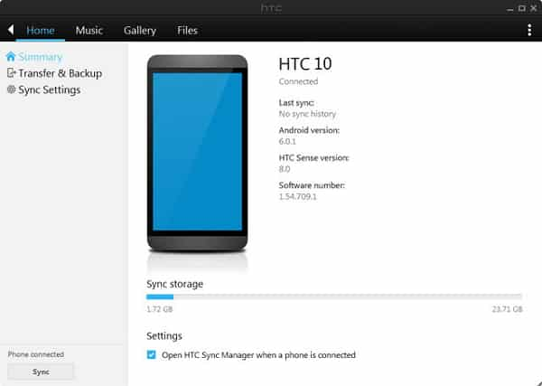 Download HTC Sync Manager terbaru