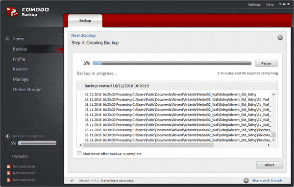 download comodo backup terbaru