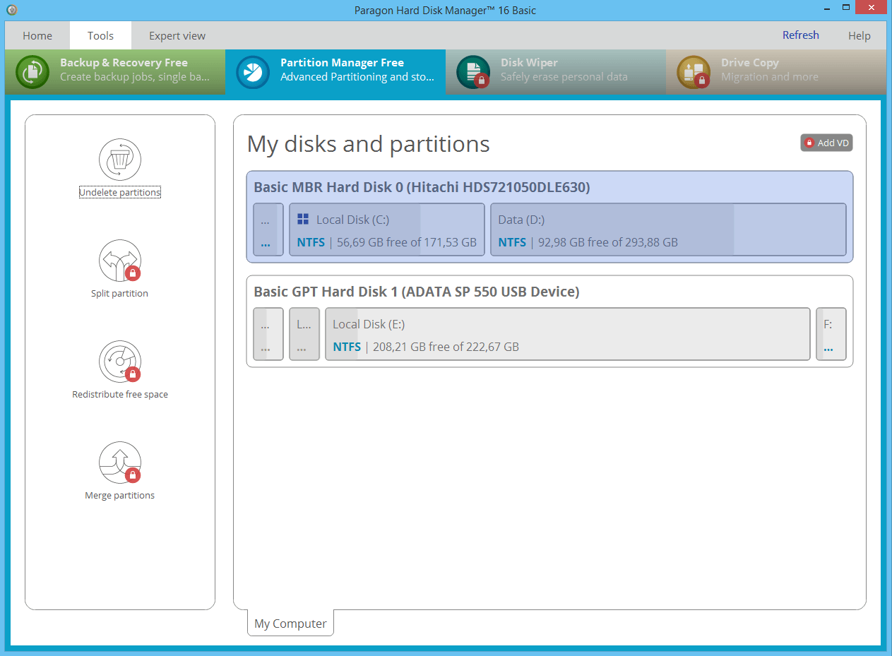 Download Paragon Partiton Manager