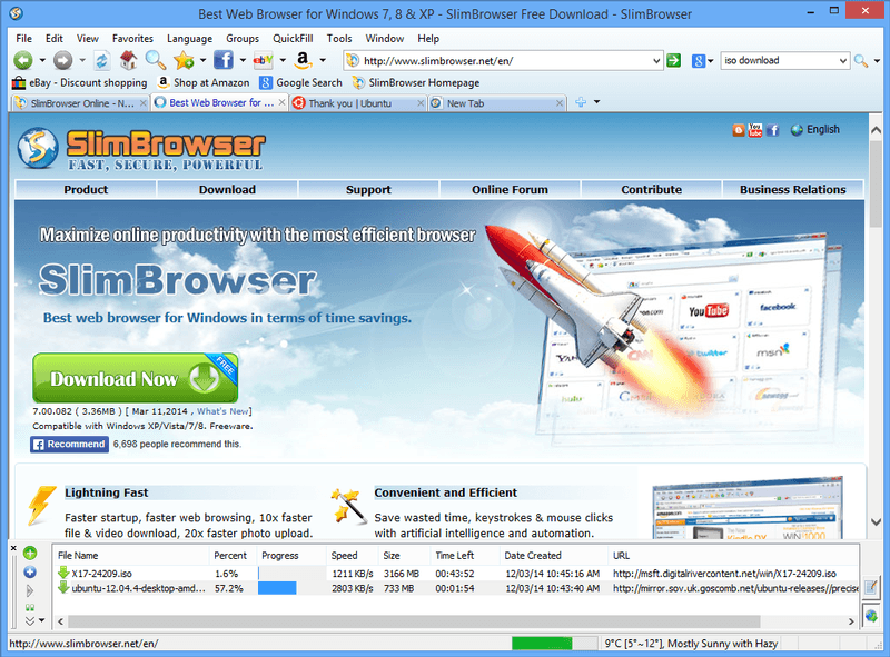 Download SlimBrowser Terbaru