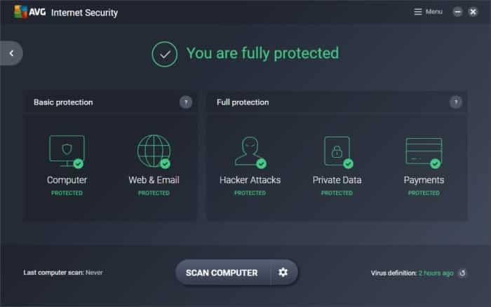 Download AVG Internet Security 19.6.3098 Full Version